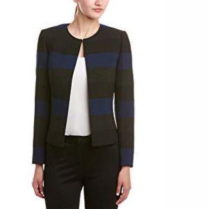Tahari ASL Striped Flyaway Blazer Jacket Size 16